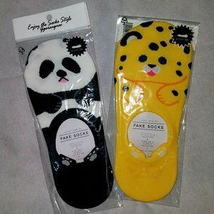 Two pairs fun animal footies